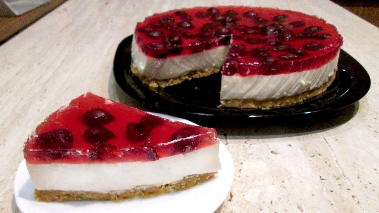 Торт без выпечки из творога диетический